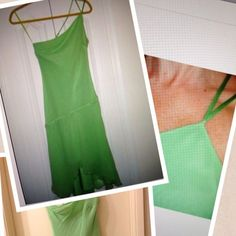 Express 100% Silk Spring Green One Shoulder Dress 👗Express Silk Party Dress with Chiffon Overlay!!!  Has uneven hemline!!!  Please note: Professionally SHORTENED 2 IN to fit my 5'4 frame 😁Worn a couple of times. Works as a dress or a tunic!  Worn as both!   No PP/Trades.  Happy to bundle 😘.  #35 Express Dresses One Shoulder