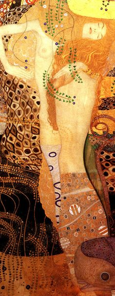 Water Serpents I, Gustav Klimt. I wrote a poem about this painting in grad school, must try to track it down.