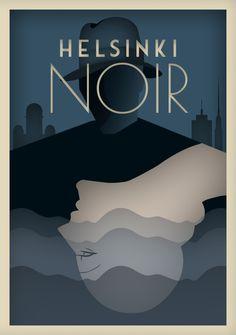 Helsinki Noir näyttely Amos Andersonin taidemuseossa 17.9.2015 alkaen vie rikostarinaan 30-luvun Helsinkiin.