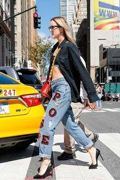 5 formas de customizar calça jeans de um jeito fácil.