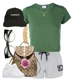 """""""Untitled #918"""" by cjasmyne ❤ liked on Polyvore featuring ZeroUV, Topshop, RE/DONE, Coach, NIKE and Chanel"""