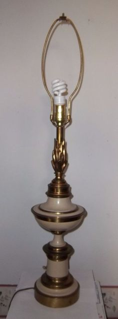 Mid Century Hollywood Regency Stiffel Brass Torchiere