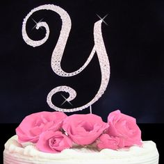 Letter Y - Swarovski Crystal Monogram Wedding Cake Topper Letter *** Find out more about the great product at the image link.