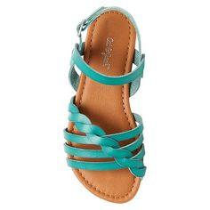 Girls' Mindy Braided Slide Sandals Cat & Jack - Turquoise 4