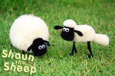 Shaun the Sheep Pom Pom tutorial