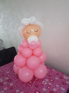 Baby Shower decoration. Balloon Baby. Cute Balloon Decoration. Ballondecoratie. Baby Borrel. Schattig.