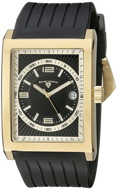Swiss Legend Men's 40012-YG-01 Limousine Analog Display Swiss Quartz Black Watch >>> Read more reviews of the watch by visiting the link on the image.