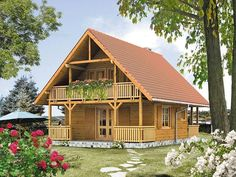 project Jasmine 2 dr-S - project Jasmine 2 dr-S Informations About projekt Jaśmin 2 dr-S Pin You can easily - Cabin House Plans, Tiny House Cabin, Dream House Plans, Small House Plans, Log Cabin Living, Log Cabin Homes, Log Cabins, Bamboo House Design, Tiny House Design