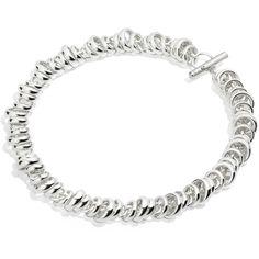 Pomellato67 Necklace Pomellato 67 ($2,580) via Polyvore featuring jewelry, necklaces, transparent, silver necklace, silver toggle necklace, toggle necklace, pomellato jewelry and silver jewellery