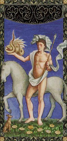 8 d'écus - Golden Tarot of Renaissance par Giordano Berti & Jo Dworkin Renaissance, Horror Dvd, Fortune Telling, Weird Creatures, Pentacle, Oracle Cards, Tarot Reading, Tarot Decks, Tarot Cards