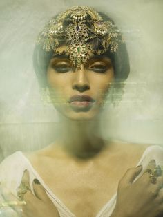 Rasika by Colston Julian + Salt for OOB Magazine Vol. Headdress, Headpiece, Make Your Own Invitations, Beauty Makeup, Hair Beauty, Mario Testino, Unique Faces, Peter Lindbergh, Inspiring Things