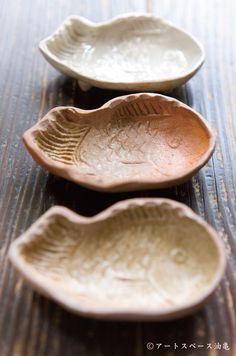 須賀文子「焼締たい焼き豆皿」