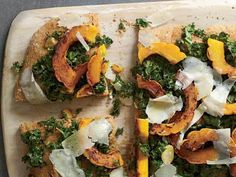 Spelt Focaccia with Kale, Squash and Pecorino recipe