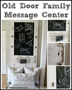 Hymns and Verses: Turn an Old Screen Door into a Family Message Center