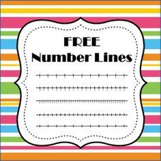 FREE Number Lines math teacher, school, numbers, teacher freebies, math freebi, number lines, gazebo, decking, free number
