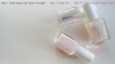 3 step for a perfect #essie manicure. - base coat: Grow stronger - nail polish: Fiji - top coat: Good to go