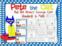 Mrs. Miner's Kindergarten Monkey Business: Pete the Cat Freebies and the Common Core Standards