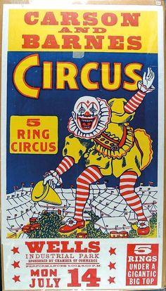 Mid-century circus poster.