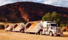 Australian road train side dumper