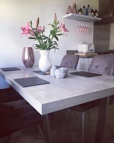 This beautiful dining room from @new_happy_home features our popular Halmstad and Hix dining set.