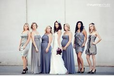 awesome range of shape and style as far as both ladies and their dresses.  plus, they aren't smiling, which is refreshing to say the least.