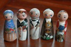 the life pursuit: saint peg dolls for friends