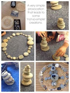 10 Ways to Play With Rocks {Sensory Summer} – Construction Zone! This is the perfect outdoor activity for summer tot school, preschool, or kindergarten! Reggio Inspired Classrooms, Reggio Classroom, Outdoor Classroom, Reggio Emilia, Play Based Learning, Early Learning, Toddler Learning, Kind Photo, Curiosity Approach