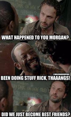 Rick Grimes. Andrew Lincoln. Morgan.