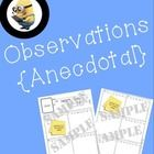 Observation Anecdotal Notes - Record Keeping Made Easy - Assessment & Evaluation