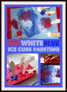 Mama's Little Muse: Patriotic Ice Cube Painting