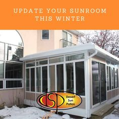 Update Your Sunroom this Winter Winter Deserts, Sunroom Addition, Desert Sun, Tall Lamps, Overhead Lighting, Sunrooms, Accent Rugs, New Room, Window Coverings