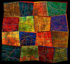 Cracked - Nancy Cordry Art Quilt