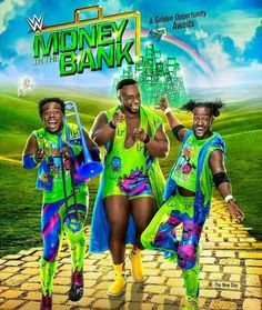 Money In The Bank PPV June 18,2017 New Day on the cover