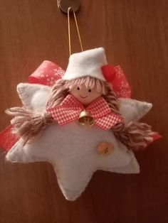 Easy Christmas Decorations, Christmas Ornament Crafts, Christmas Fairy, Christmas Sewing, Felt Ornaments, Christmas Angels, Christmas Projects, Diy And Crafts, Christmas Crafts