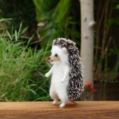 Needle felted hedgehog by LittleWoolTails on Etsy