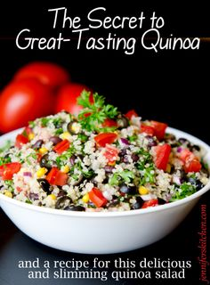 Step by step for how to make great quinoa