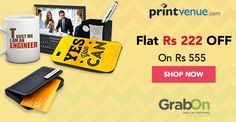 Printvenue Offer: Flat Rs 222 OFF on minimum purchase of Rs 555. Ends Today! Grab this Now  #PrintvenueCoupons #ThursdayThirst #GrabOn