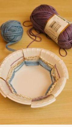 Paperbowl weaving