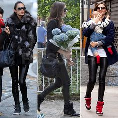 Fall 2012 Street Style instant update: High top sneakers.....surprisingly versatile!