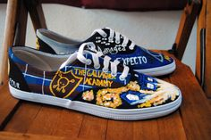 Gallagher girls, Doctor Who, Harry Potter Shoes #gallaghergirls #doctorwho #harrypotter  #paintedshoes