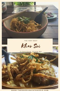 In an off the beaten path area of Chiang Mai city in Thailand, this is a list of the 5 best Khao Soi in Santitham. Read and enjoy! Thailand Travel, Asia Travel, Backpacking Thailand, Khao Soi, Pork Soup, Best Thai, Food Stall, Northern Thailand, Cool Cafe