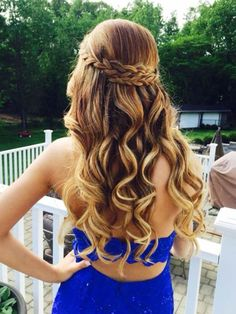See more ideas about long hair styles braided hairstyles and short hair styles. Down hairstyles complement strapless dresses best. 31 Half Up Half Down Prom Hairstyles Hair Styles Long Prom Dance Hairstyles, 2015 Hairstyles, Night Hairstyles, Braided Hairstyles, Trendy Hairstyles, Teenage Hairstyles, Beautiful Hairstyles, Long Haircuts, Hairstyles For Graduation