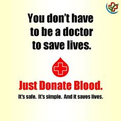 #BloodDonation will cost you nothing, it will save 3 lives. #SaveLives #CostYouNothing #HelpOthers