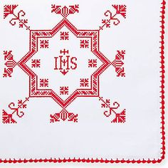 Bestickte Weihkorbdecke Cross Stitch, Easter, Cards, Roots, Carnations, Dots, Needlepoint, Embroidery, Cross Stitch Free