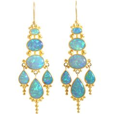 Mallory Marks Opal Indonesian-Style Chandelier Earrings