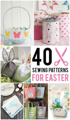 Over 40 Sewing Patterns and Tutorials perfect for Easter. Everything from Easter Basket Sewing Patterns to Easter Bunny Softies and Easter Dresses!