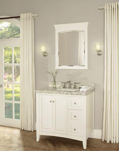 """The Shaker Americana 36"""" vanity offers clean lines; exceptional durability and the fine craftsmanship of a vintage vanity. It enhances any bathroom setting with its sensible and gracious style as popular today as it was in the 19th century. It retails starting at $1,200."""