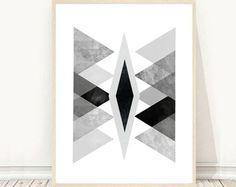 Printable Art Geometric Art Print Triangle Wall by honeytreeprints