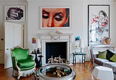 "Designer Francis Sultana describes his own Georgian home in London as a ""canvas"" for experimenting with innovative art and design arrangements. The candles"