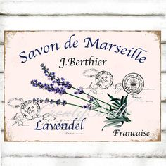 French Lavender Bathroom Art Large A4 Instant Digital Download Printable Perfume Herb Label Graphic Image Craft Supplies French Ephemera
